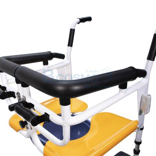 WC1602 Y รถเข็นเคลื่อนย้ายผู้ป่วย YD 889 สีเหลือง ลายน้ำ4