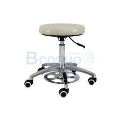 เก้าอี้นั่งตรวจปรับเท้า เบาะนั่งสีครีม