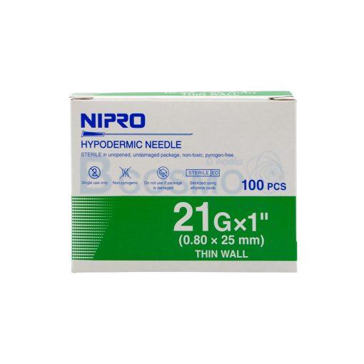 NIPRO 21GX1นิ้ว 100ชิ้น EF0903 21x1 2