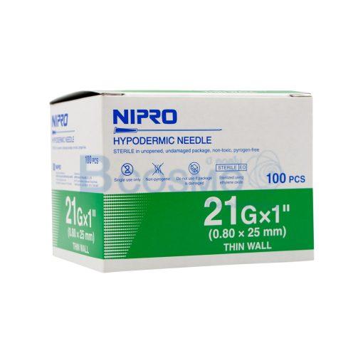 NIPRO 21GX1นิ้ว 100ชิ้น EF0903 21x1 3