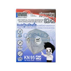 [ 20 ชิ้น/ 1 กล่อง ]หน้ากากอนามัยคาร์บอน PM 2.5 Yamada วาล์วคู่ 8242