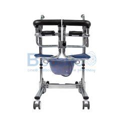 รถเข็นเคลื่อนย้ายผู้ป่วย YD-889 สีน้ำเงิน (โครงชุบโครเมี่ยม)