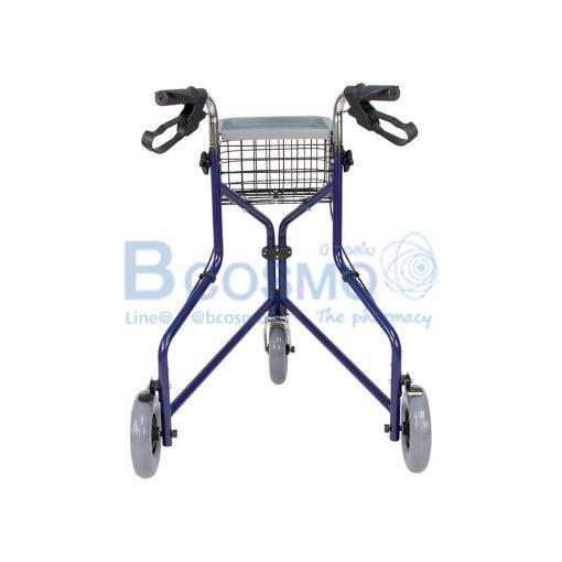 Wheelchair Rollator รถเข็นหัดเดิน ไม่มีที่นั่ง สีน้ำเงิน Y969H YYY WC0411 BL 4