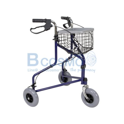 Wheelchair Rollator รถเข็นหัดเดิน ไม่มีที่นั่ง สีน้ำเงิน Y969H YYY WC0411 BL1