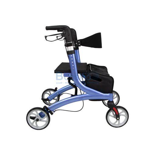 Wheelchair Rollator รถเข็นหัดเดิน Euro style ล้อ 8 นิ้ว สีน้ำเงิน Y8860L YYY WC0409 BL3