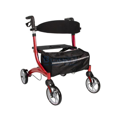 Wheelchair Rollator รถเข็นหัดเดิน Euro style ล้อ 8 นิ้ว สีแดง Y8860L YYY WC0409 R2