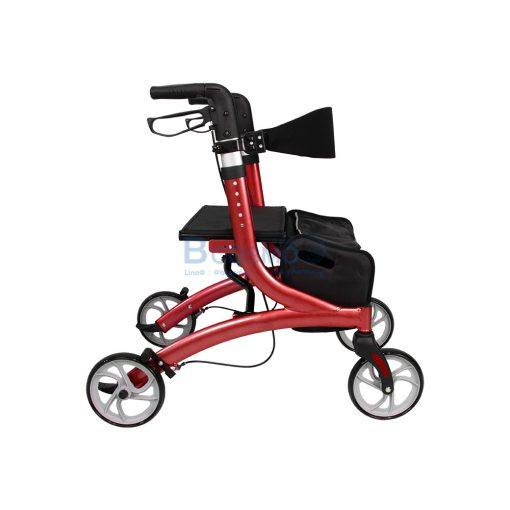 Wheelchair Rollator รถเข็นหัดเดิน Euro style ล้อ 8 นิ้ว สีแดง Y8860L YYY WC0409 R3