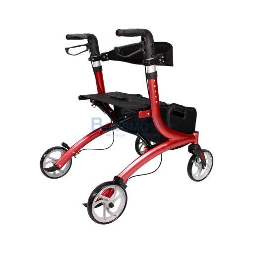 Wheelchair Rollator รถเข็นหัดเดิน Euro style ล้อ 8 นิ้ว สีแดง Y8860L YYY WC0409 R4