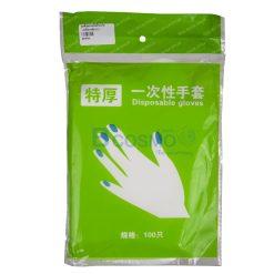ถุงมือพลาสติกใส 100ชิ้น/แพ็ค
