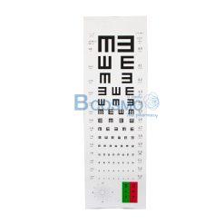แผ่นวัดสายตา แบบ E-Chart