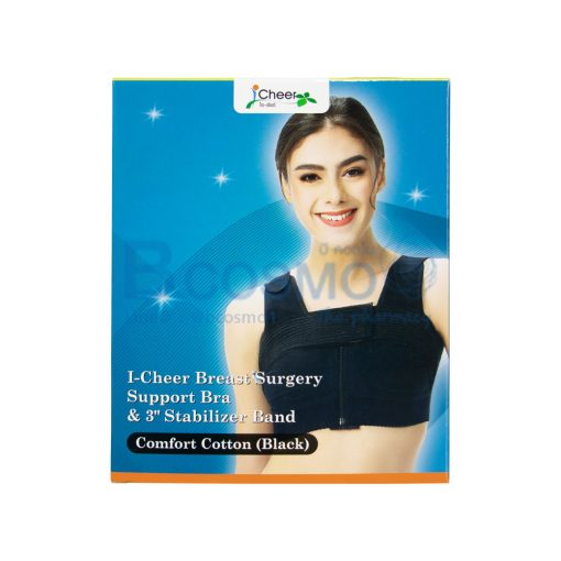 I Cheer Breast Surgery Support Bra รุ่น Comfort Cotton Size L สีดำ ES1104 L1