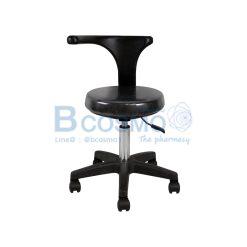เก้าอี้กลมเบาะนิ่มแบบโช๊ค พนักพิงหมุนได้