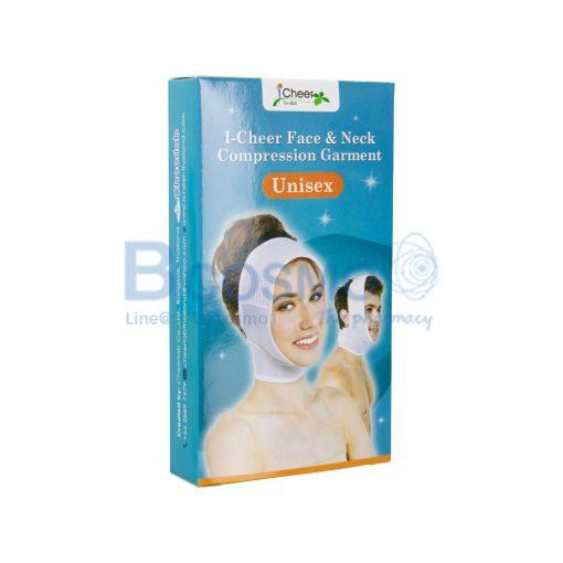 I Cheer Face Neck Compression Germent Unisex Size M สีขาว ES1105 M 2