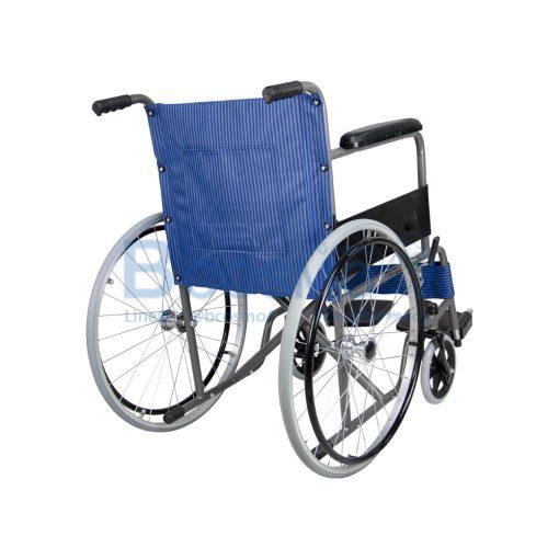 ล้อซี่ ไม่มีเบรกมือ เบาะผ้าลายสก็อตน้ำเงิน WHEELCHAIR CA907 BLUE WC1012 BL4