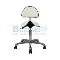 เก้าอี้เบาะอานม้าแบบพนักพิงปรับระดับได้ แบบโช๊ค ฐาน 5 แฉก