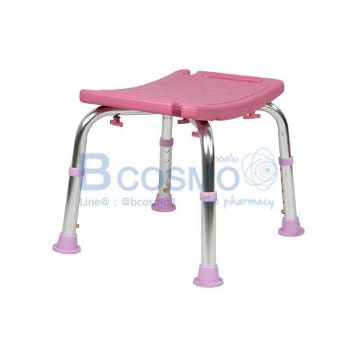 เก้าอี้นั่งอาบน้ำ ไม่มีพนักพิง RKF-6601 สีชมพู
