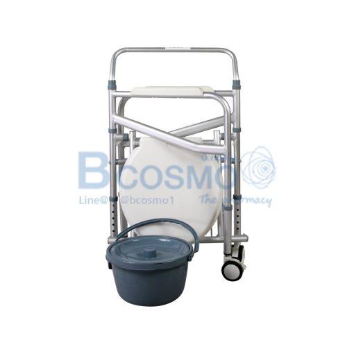 เก้าอี้นั่งถ่ายพับได้อลูมิเนียมมีล้อ GK696L