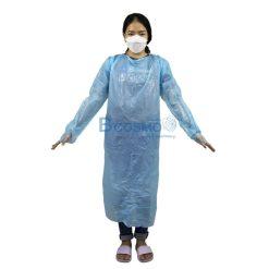 เอี๊ยมพลาสติก กันเปื้อน สีฟ้า บรรจุ 10 ชิ้น/แพ็ค