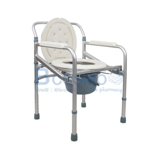 เก้าอี้นั่งถ่าย พับได้ วัสดุอลูมิเนียม ไม่มีล้อ GK894L