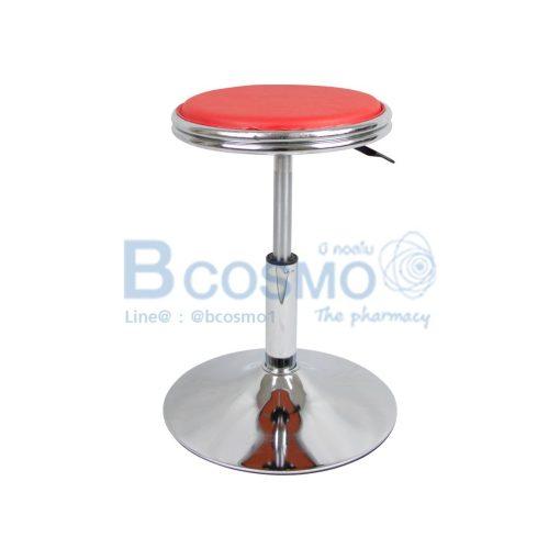 เก้าอี้กลมขอบสแตนเลส มีโช๊ค เบาะนั่ง ฐานกลม 201