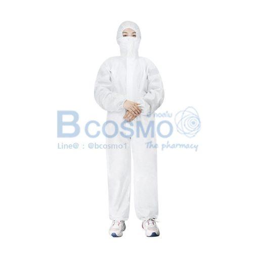 ชุดกันสารเคมีสีขาว YUEXIU ISOLATION GOWN