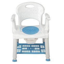 เก้าอี้นั่งถ่ายพลาสติก พร้อมถังรองสิ่งปฎิกูล มีพนักพิงหลัง Y357U