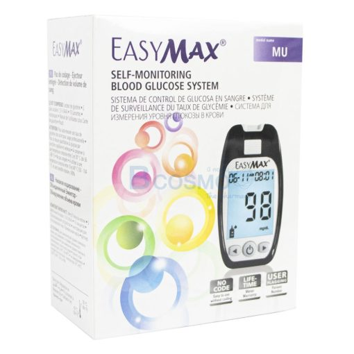 ชุดเครื่องตรวจวัดระดับน้ำตาลในเลือด EASY MAX Model MU